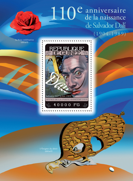 Salvador Dalí - Issue of Guinée postage stamps