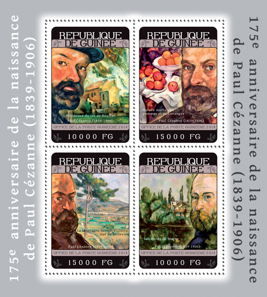 Paul Cézanne - Issue of Guinée postage stamps