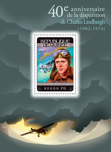 Charles Lindbergh - Issue of Guinée postage stamps