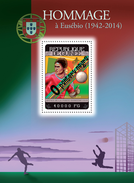 Eusebio - Issue of Guinée postage stamps