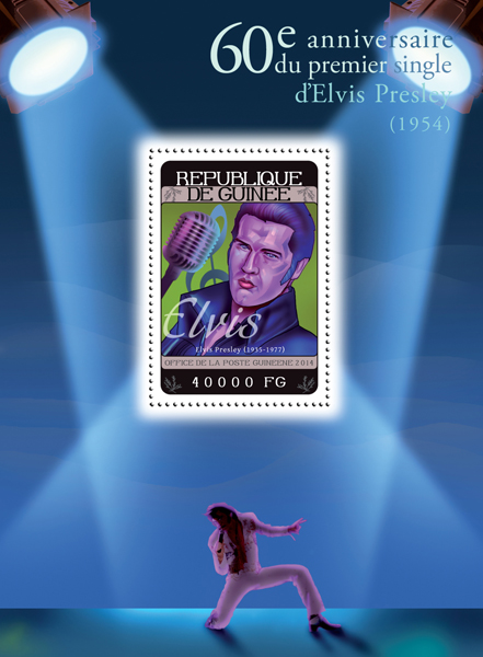 Elvis Presley - Issue of Guinée postage stamps