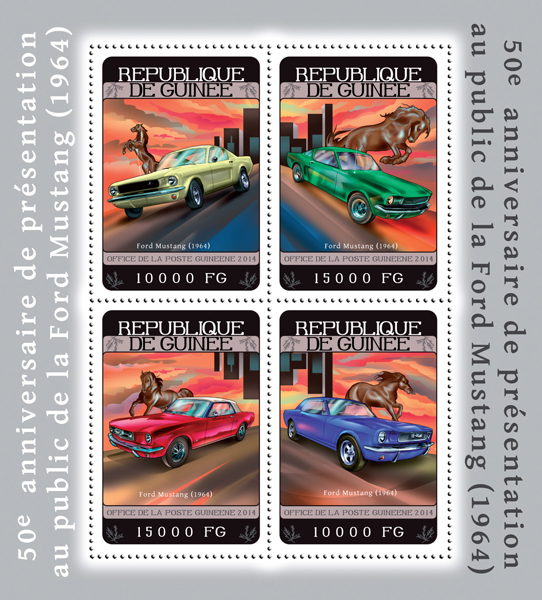 Ford Mustang - Issue of Guinée postage stamps