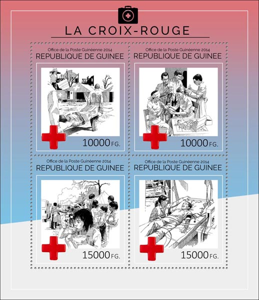 The Red Cross  - Issue of Guinée postage stamps