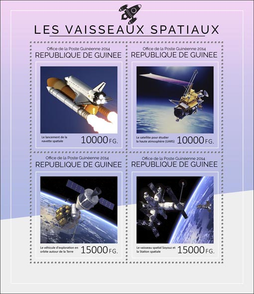 Spacecraft - Issue of Guinée postage stamps