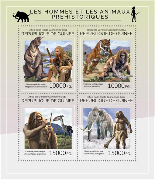 Prehistoric - Issue of Guinée postage stamps
