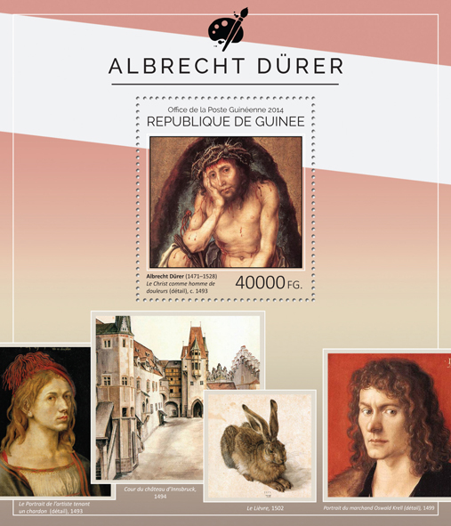Albrecht Dürer - Issue of Guinée postage stamps