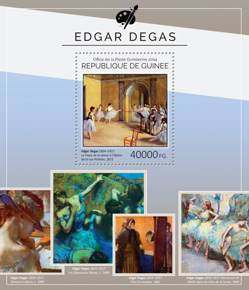 Edgar Degas  - Issue of Guinée postage stamps