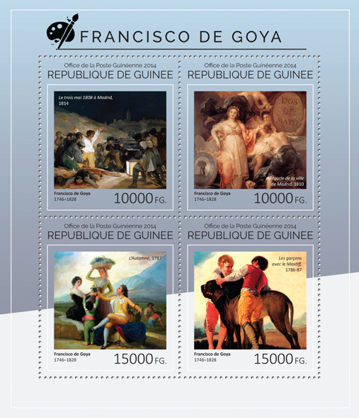 Francisco de Goya  - Issue of Guinée postage stamps