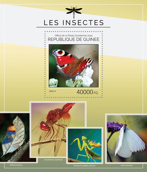 Insects - Issue of Guinée postage stamps