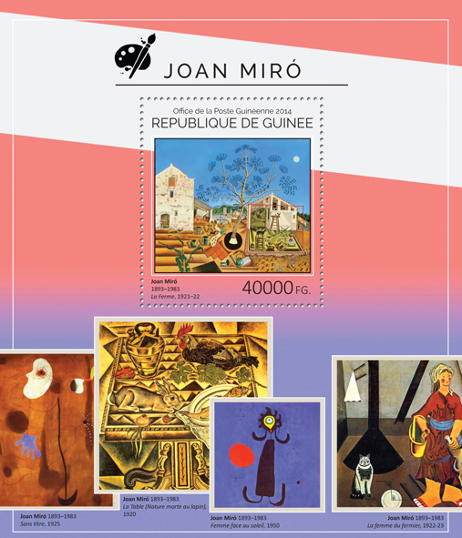Joan Miró - Issue of Guinée postage stamps