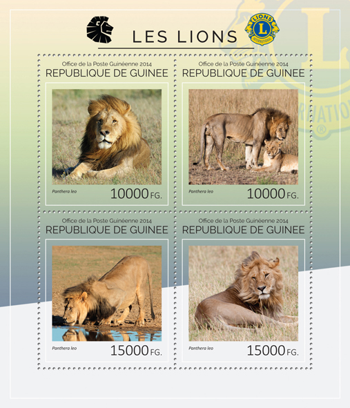 Lions - Issue of Guinée postage stamps