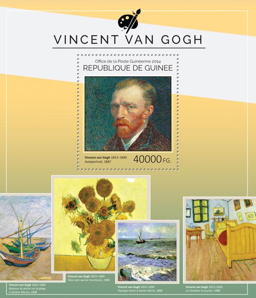 Vincent van Gogh - Issue of Guinée postage stamps