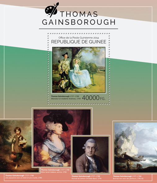 Thomas Gainsborough - Issue of Guinée postage stamps