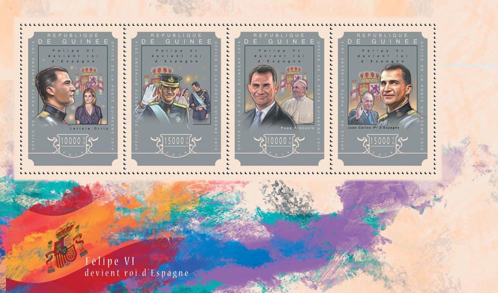 Felipe VI - Issue of Guinée postage stamps