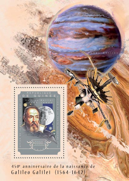 Galileo Galilei  - Issue of Guinée postage stamps