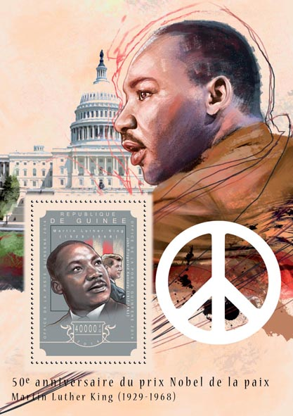 Martin Luther King Jr. - Issue of Guinée postage stamps