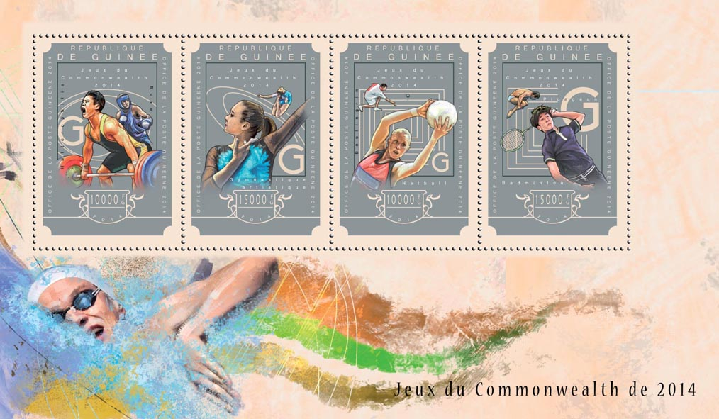 Commonwealth Games 2014 - Issue of Guinée postage stamps