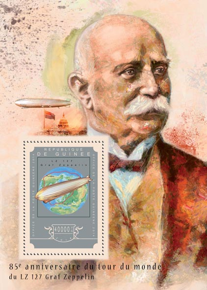 Graf Zeppelin - Issue of Guinée postage stamps