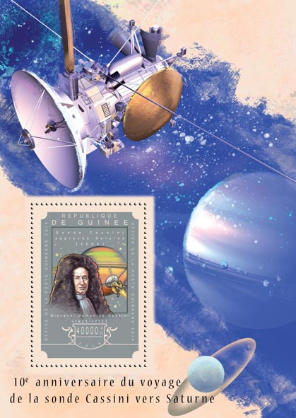 Spacecraft Cassini - Issue of Guinée postage stamps