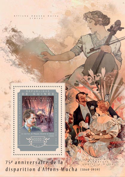 Alfons Mucha - Issue of Guinée postage stamps