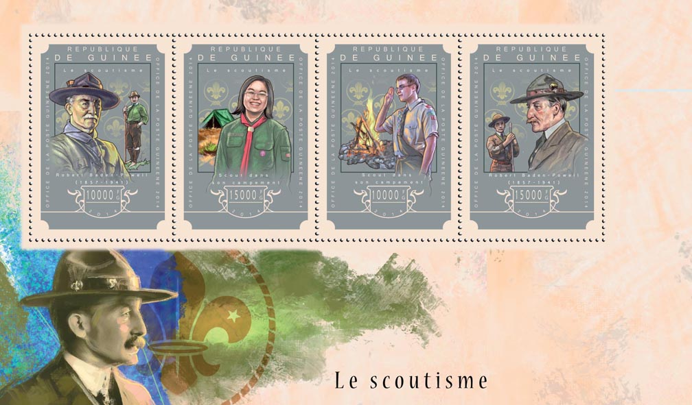 Scouting - Issue of Guinée postage stamps