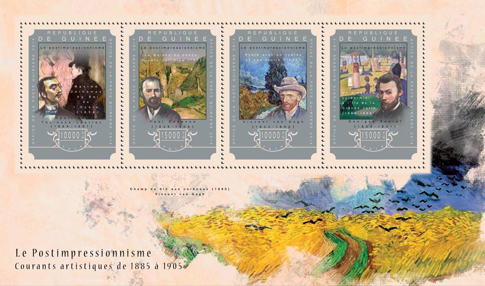 Postimpressionism - Issue of Guinée postage stamps