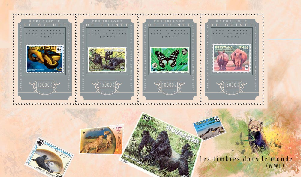 Stamps of the World - Issue of Guinée postage stamps