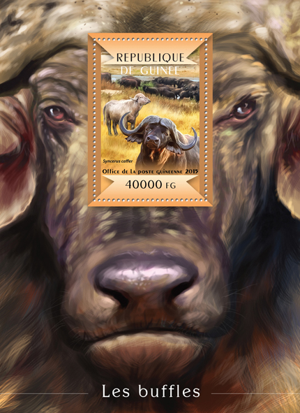 Buffalos - Issue of Guinée postage stamps