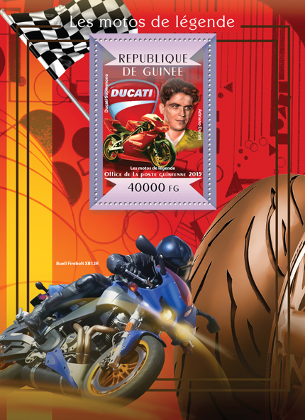Legendary motorcycles - Issue of Guinée postage stamps