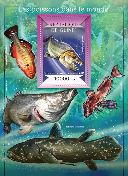 Fishes of the World - Issue of Guinée postage stamps