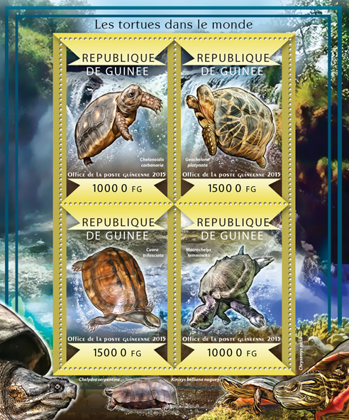 Turtles of the World - Issue of Guinée postage stamps