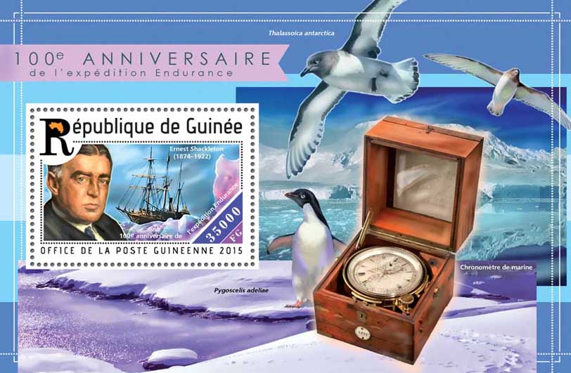 Endurance Expedition - Issue of Guinée postage stamps