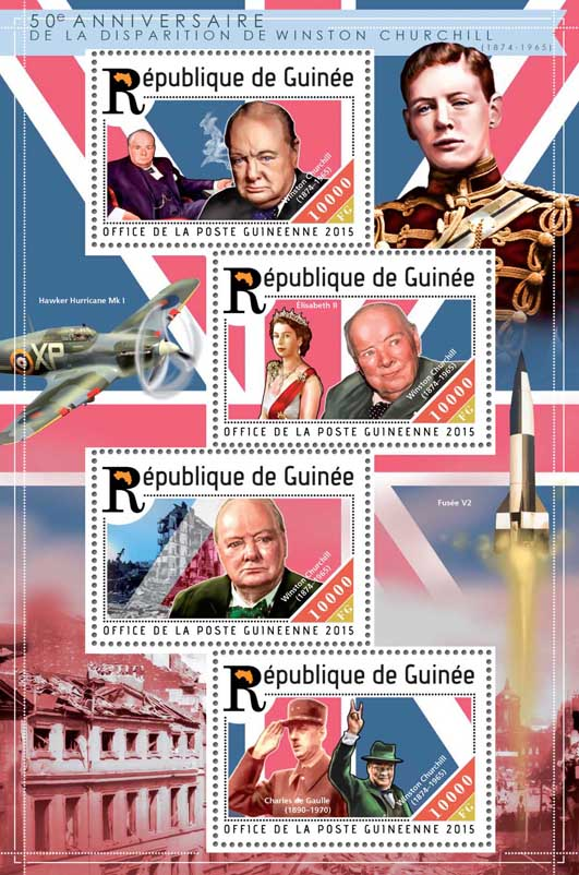 Winston Churchill - Issue of Guinée postage stamps