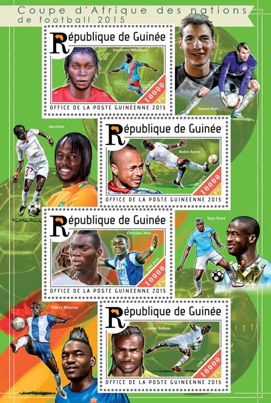 Football - Issue of Guinée postage stamps