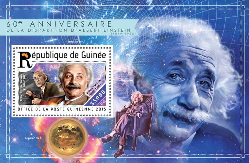 Albert Einstein - Issue of Guinée postage stamps