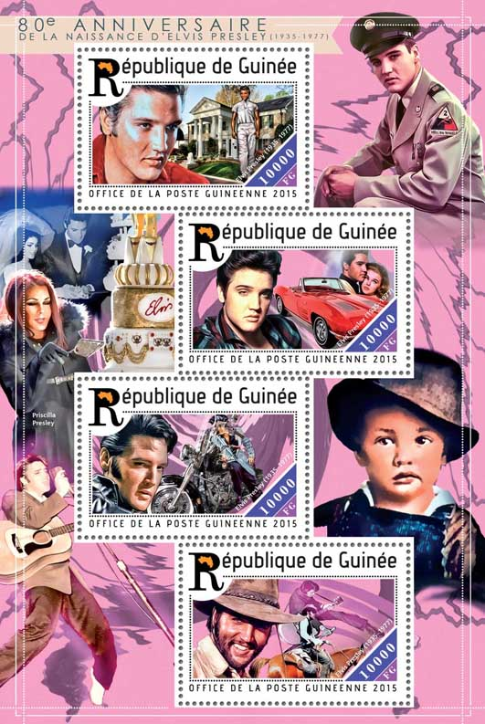 Elvis Presley  - Issue of Guinée postage stamps