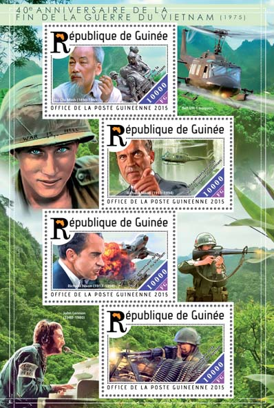 Vietnam war  - Issue of Guinée postage stamps