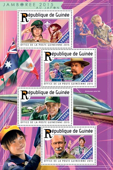Jamboree 2015 - Issue of Guinée postage stamps