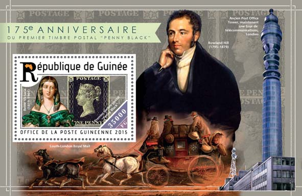 Penny Black - Issue of Guinée postage stamps