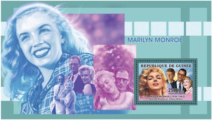 MARILYN - J.F.KENNEDY 25 000 FG - Issue of Guinée postage stamps