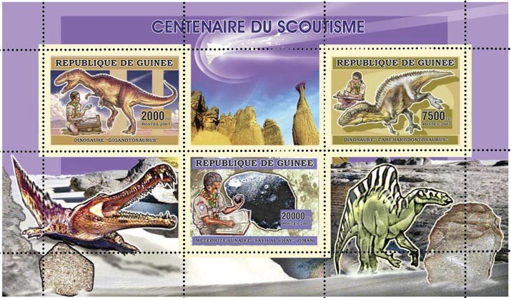 CENTENAIRE DU SCOUTISME 29 500 FG - Issue of Guinée postage stamps