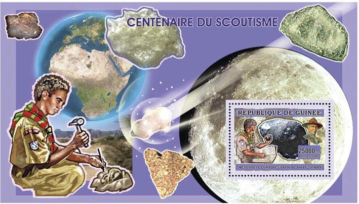 SCOUTS - MINERALS 25 000 FG - Issue of Guinée postage stamps
