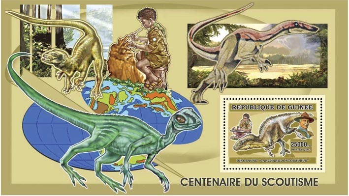 SCOUTS - PREHISTORY 25 000 FG - Issue of Guinée postage stamps