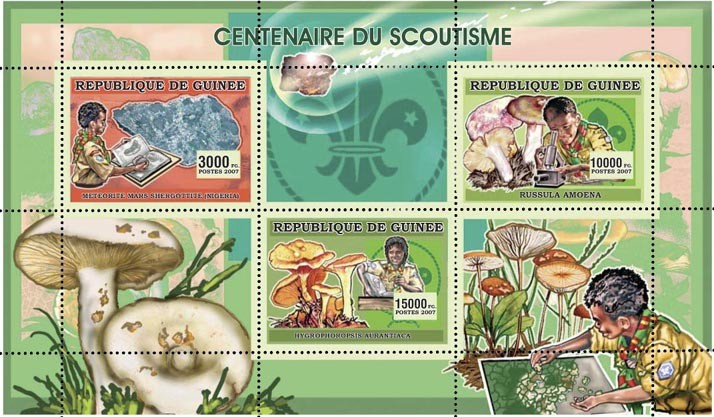 CENTENAIRE DU SCOUTISME 3v - 28 000 FG - Issue of Guinée postage stamps