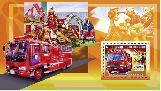 VEHICULE JAPONAIS TOKYO s/s 25 000 FG - Issue of Guinée postage stamps