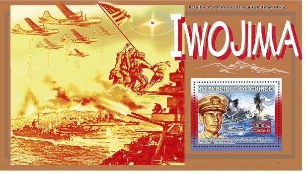 DEBARQUEMENT DE NORMANDIE 6 JUIN 1944 s/s 25 000 FG - Issue of Guinée postage stamps