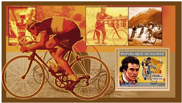 CYCLISME. BERNARD HINAULT - Issue of Guinée postage stamps