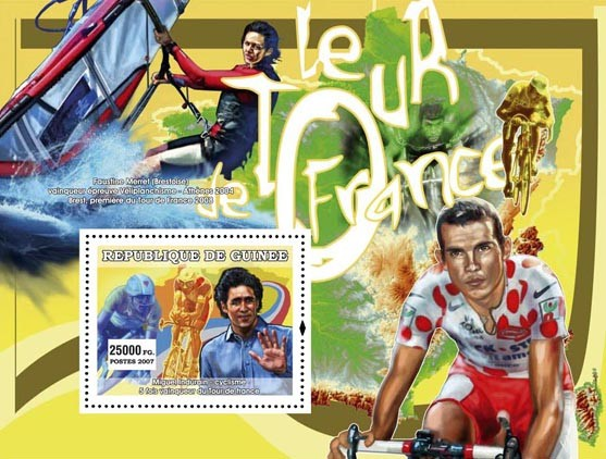 Cyclism - Issue of Guinée postage stamps