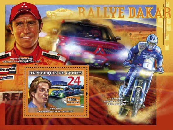 Rallye Dakar - Issue of Guinée postage stamps