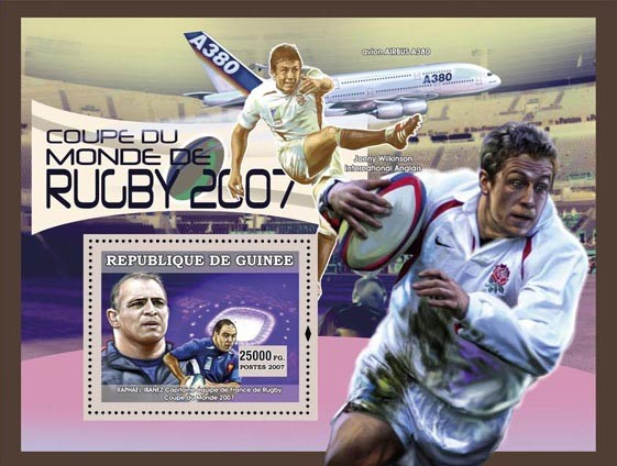Rugby Coup du Monde 2007 - Issue of Guinée postage stamps